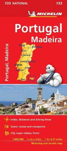 Preisvergleich Produktbild Portugal & Madeira - Michelin National Map 733 (Michelin National Maps)