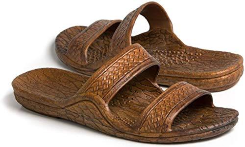 Pali Hawaii Unisex Adult Classic Jandal Sandal (Light Brown, 9)