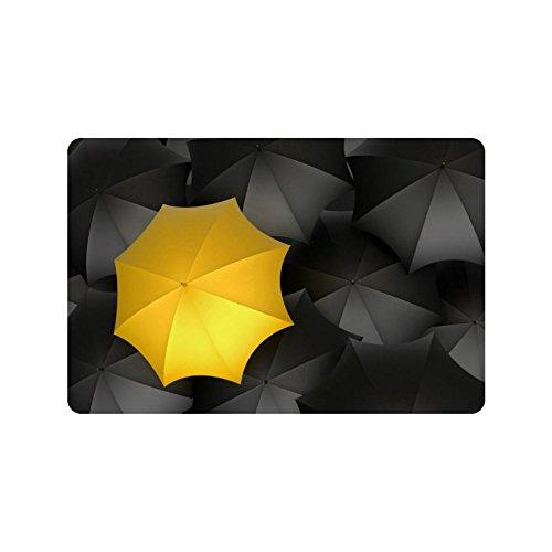 Keuken Gepersonaliseerde gele paraplu decoratieve vloer deurmat buiten en binnen (23.6 X 15.7 Inch)