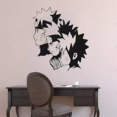 Naruto a adolescente silueta pegatinas de pared anime y vinilo para ventana de esquina guardería sala de estar oficina dormitorio decoración