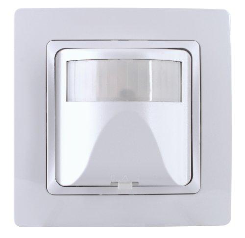 Kopp 808102014 Bewegungsschalter, INFRAcontrol 180 Grad, Komplettgerät, inkl. 1-fach Abdeckrahmen (Design Paris), UP, IP20, 2-Draht-Gerät, Weiß