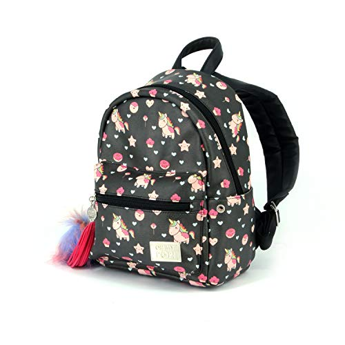 Oh My Pop! Popnicorn-Mochila Fashion (Pequeña), Negro