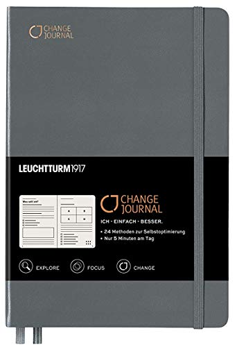 Change Journal | 24 Techniken für mehr Produktivität, Achtsamkeit und Klarheit | Leuchtturm1917 Edition (Anthrazit)