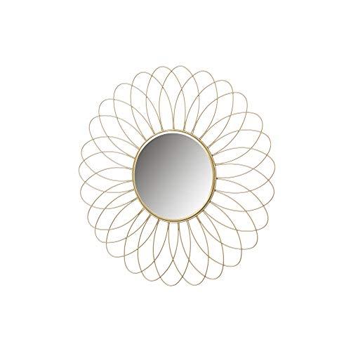Espejo Flor Dorado de Metal de Ø 49 cm - LOLAhome