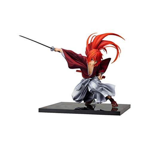 VENDISART Anime Rurouni Kenshin Figur Japanischer Klassiker Himura Kenshin PVC Actionfigur Anime Figur Spielzeug