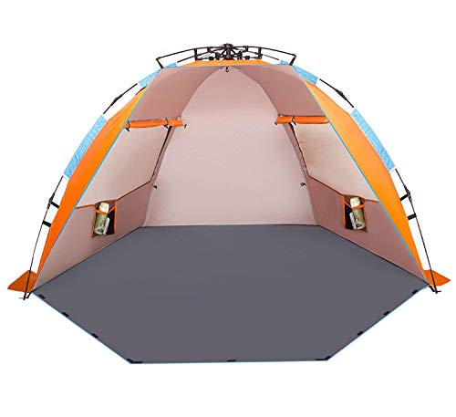 Oileus X-Large 4 Person Beach Tent Sun Shelter - Portable...