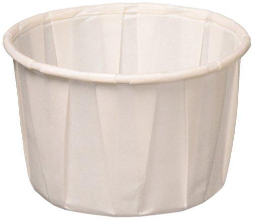 Solo vasos de papel tratado de 2 oz para medición, medicina, muestras, chupitos de gelatina (paquete de 250)