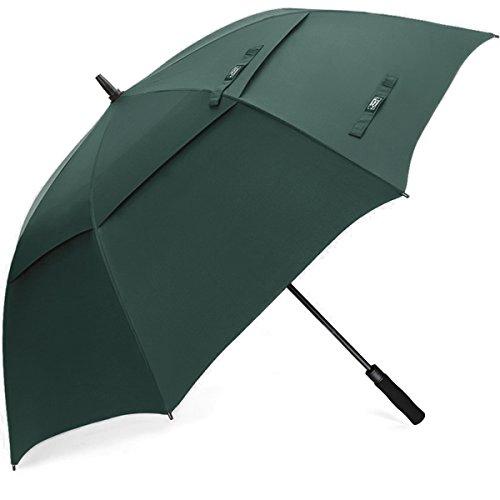 G4Free 68 Inch Sombrilla de Golf a Prueba de Viento Toldo Doble Ventilado Extra Grande de Gran Tamaño Automático Abierto Impermeable Stick Paraguas para Adulto Unisex