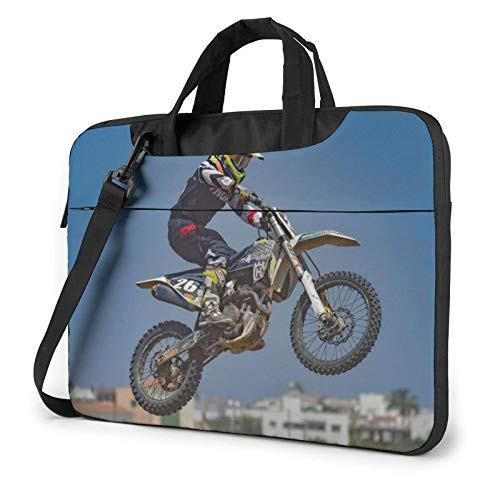 Zuess Laptop Bag Motocross Laptop Shoulder Bag Messenger Briefcase Laptop Case Sleeve