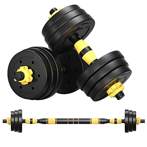 Rubber Dumbbell in Pair, 10-40 KG Dumbbells Grip Dumbbell with Metal Handles Heavy Dumbbell, Adjustable Muti-function Weight Training Dumbbells for Strength Training Full Body Workout Barbell Set