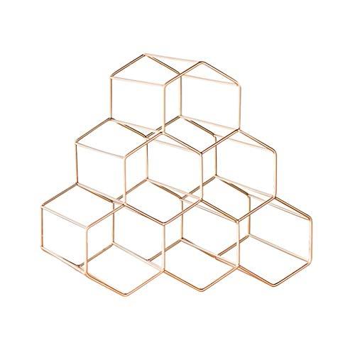 Wine Rack, Wine Rack para 6 Botellas Encimera Soporte de Botella de Vino portátil de Metal de pie Independiente Diseño Minimalista Moderno para Amantes del Vino (Tamaño: 28 * 11 * 27cm) (Color: # 2)