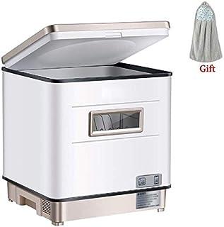WYZXR Lavavajillas de sobremesa, lavavajillas Compacto para 6 ajustes de Lugar 6 programas 12L, Cesta de Cubiertos Soporte Extra para Platos