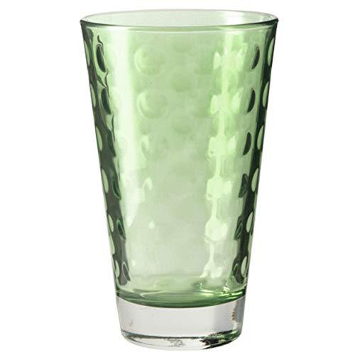 Leonardo 014774 Lot de 6 Grande Tasse Verres à Eau Optic, Passe au Lave-Vaisselle, Verde Vert