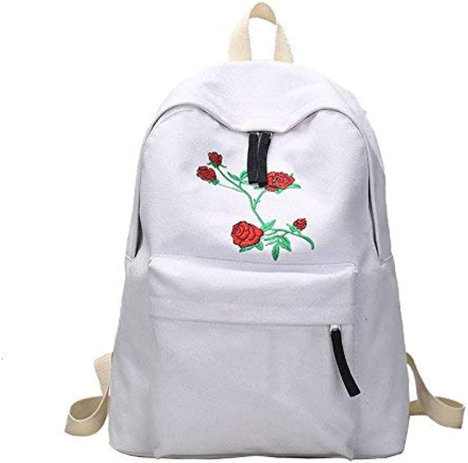 Lounayy Draper The Fashion Kids Backpack Package Students' School Backpack Dual from Mass School Bags Shoulder Bag Double Click (color   White, Size   One Size)