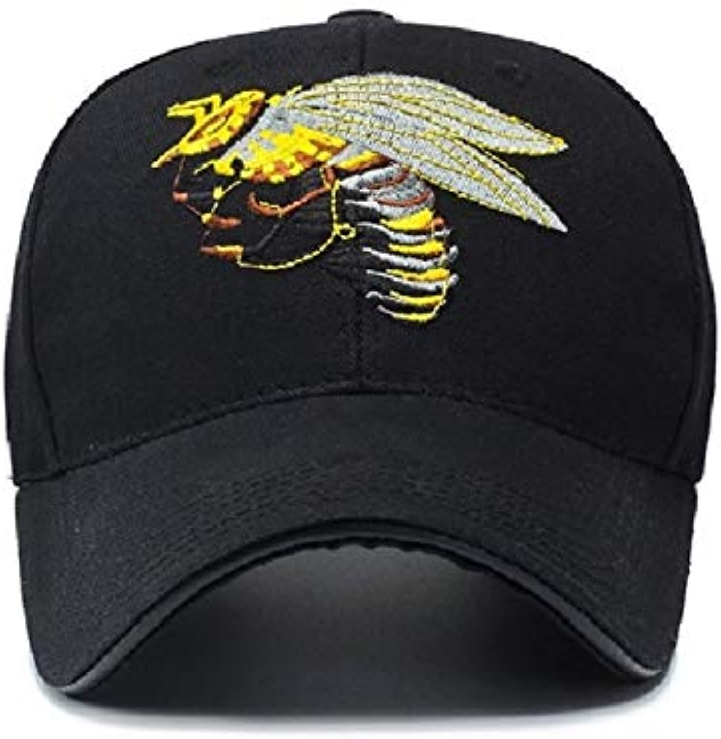 AAMOUISE Baseball Cap Spring and Summer Unisex Baseball Cap with Embroidery Logo PreCurved Visor Breathable Black Adjustable Buttonhole dad hat Novel