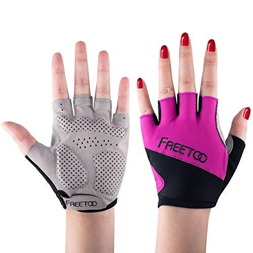 FREETOO Fitness Handschuhe Trainingshandschuhe mit Hocher Elastizität und Voller Handflächenschutz Atmungsaktive Dauerhafte rutschfeste Sporthandschuhe für Krafttraining Bodybuilding Fitnesstraining