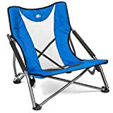 Cascade Mountain Tech Compact Low Profile Camp Chair – Portable Outdoor Folding Camp Chair with Carry Case with Carry Case, Royal Blue (LPS-RB)
