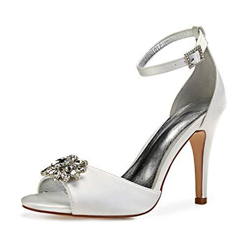 L@YC Zapatos De Novia Para Mujer, Correa De Tobillo, Damas De Honor...