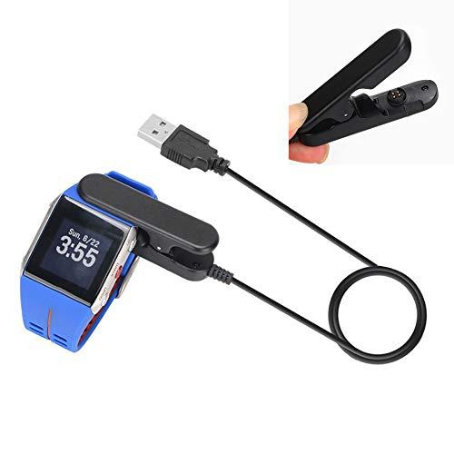 Cargador de reloj, 1 m de carga de sincronización de datos, cargador de carga, adaptador de cable para Polar Smart Watch V800, cargador de cable de carga portátil