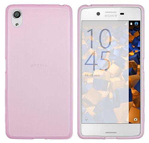 mumbi Hülle kompatibel mit Sony Xperia X Performance Handy Hülle Handyhülle dünn, transparent rosa