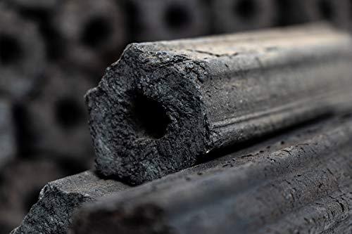 com-four® Briquetas de carbón de 10 kg Hechas de Madera de Manzana, carbón de Madera 100% Natural para ahumadores…