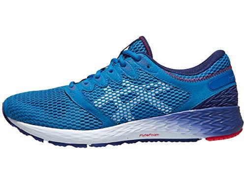 ASICS Roadhawk FF 2 - Zapatillas de correr para hombre, color azul y blanco, talla 10.5