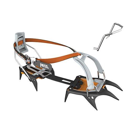 PETZL Adultos Crampones con 10Puntas para de Alto y esquí Irvis LeverLock Universal, Naranja, 36-45, t03a LLU