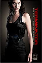 Terminator: The Sarah Connor Chronicles 8x10 Photo Lena Headey FOX Ad Title in Red Down Right Side of Pic kn