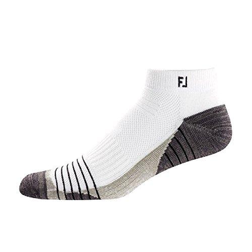 Footjoy Herren Tour Sport Socken, Mehrfarbig (Weiß / Schwarz), 39-46 EU