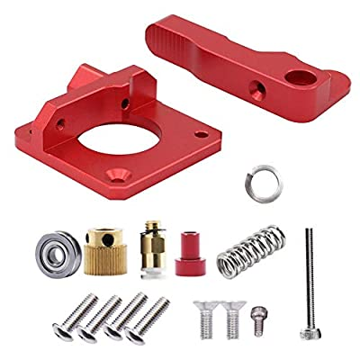 Saipor MK8 Extruder Aluminum Block, Upgraded Replacement MK8 Drive Feed Kit 3D Printer Bowden Extruders 1.75mm Filament for Creality Ender 3, CR-10, CR-10S, CR-10 S4, CR-10 S5