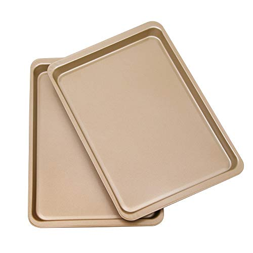 Bakeware Set of 2 - Zeakone Baking Sheet Pan (14.5' x 10') – for Commercial or Home Use. Non Toxic, Perfect Baking Supply Set for gifts, for new and experienced bakers alike