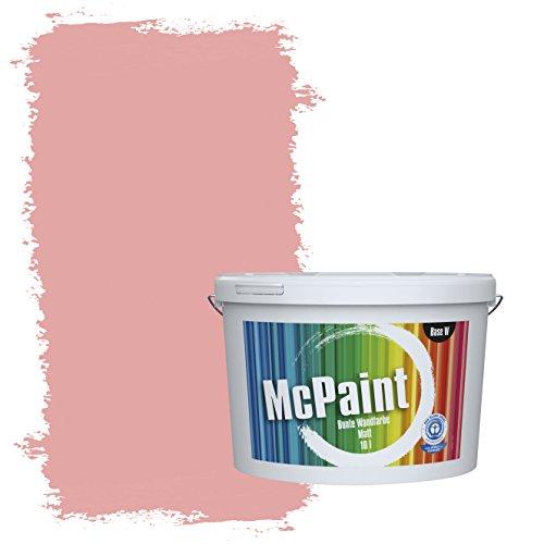 McPaint Bunte Wandfarbe matt für Innen Lotusrosa 2,5 Liter - Weitere Rote Farbtöne Erhältlich - Weitere Größen Verfügbar