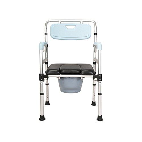Commode Chaise en Alliage D'aluminium Siège De Toilette Toilette Chaise De Douche Pliante Chaise De Toilette