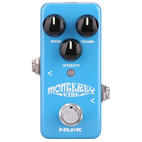 NUX Monterey Vibe Guitar Effects Pedal with an optional Tremolo Effect Firmware Upgradable True Bypass
