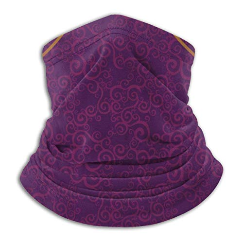 WlQshop Calentadores de Cuello East Oriental Royal Palace Patterns with Bohemian Style Art Traditional Wedding Ski Mask Cold Weather Mascarilla Neck Warmer Fleece Hood Winter Hats