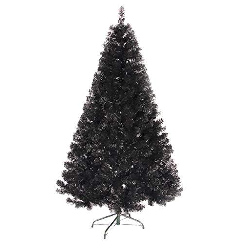 Árbol De Navidad Negro, Árbol De Navidad Decoración De Cifrado Casas Navidad De Agujas De Pino con Los Ornamentos Adecuados para Todo Tipo De Escenas De Navidad 150Cm