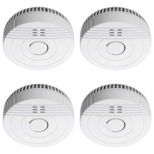 SEBSON 4X Detector de Humo, Batería de Larga Duración 5 Años, DIN EN 14604, Detectores fotoeléctricos de Humo GS536GC, Alarma de Incendios