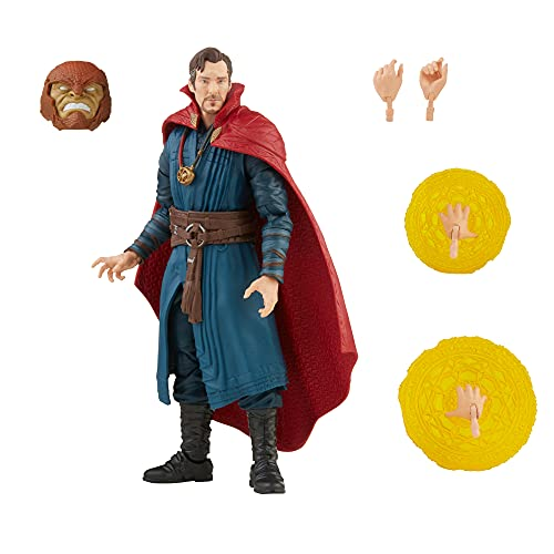 Spider-Man Marvel Legends Series Doctor Strange 6-inch Collectible Action Figure Toy and 4 Accessories and 1 Build-A-Figure Part(s)
