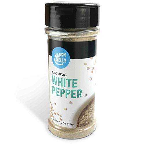 Amazon Brand - Happy Belly White Pepper, Ground, 3 Ounces