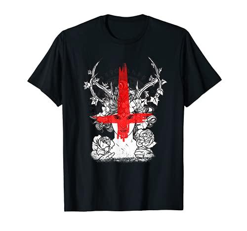 Demonios Ocultos Bruja I Satanic Bloody Cross Camiseta