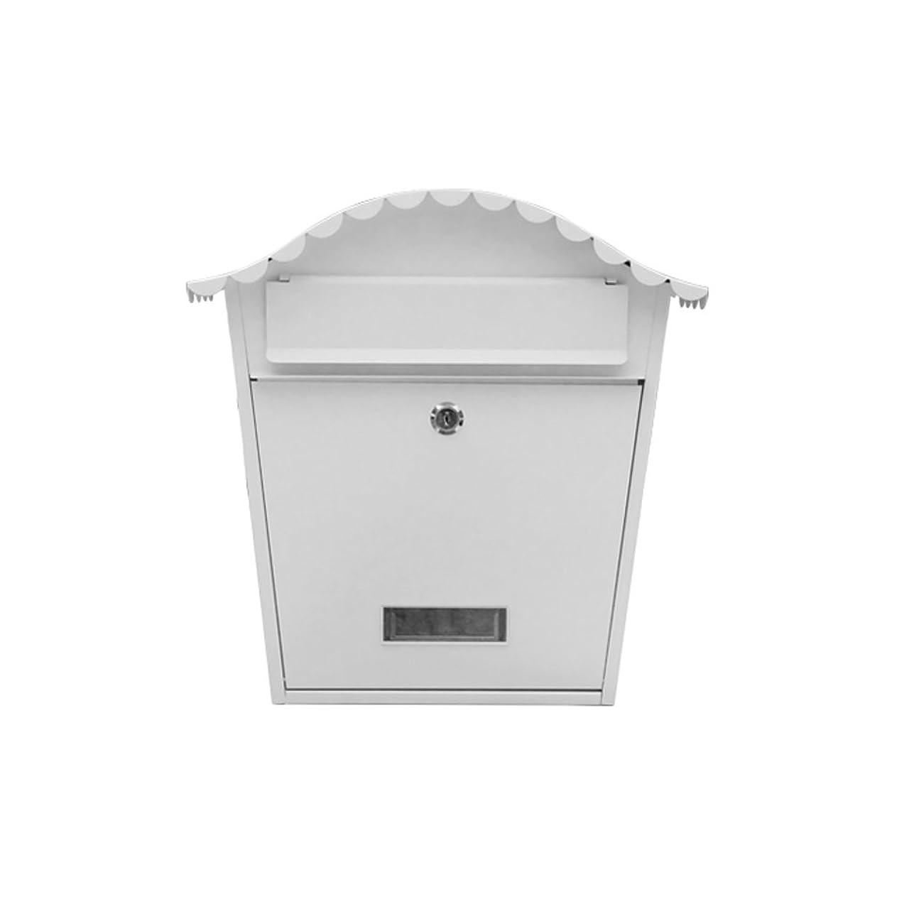 内なるアレルギー性強要HZB ヴィラ郵便受け屋外郵便箱ヨーロッパの吊り下げ壁屋外防水新聞箱の装飾、平野白