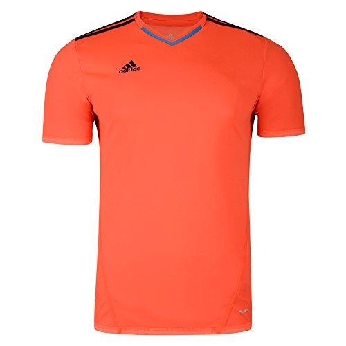 adidas XSE Climalite - Camiseta deportiva para hombre, naranja, small