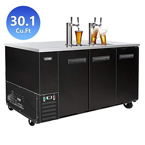 Big Save! Commercial Kegerator Beer Dispenser, KITMA 90 Inches Blend of Keg Refrigerator for Restaur...