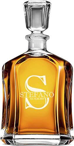 Whisky Decantador Personalizado, Grabado A Medida Con Nombre, Inicial Y Año, Tamaño...