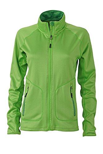 2Store24 Ladies' Stretchfleece Jacket in Spring-Green/Green Taille: XXL