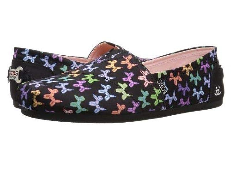 許可不愉快教育者BOBS from SKECHERS(ボブス スケッチャーズ) レディース 女性用 シューズ 靴 フラット Bobs Plush - Black/Multi [並行輸入品]