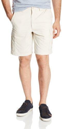 Savane Men's Flat Front Eco-Start Trail Cargo Shorts