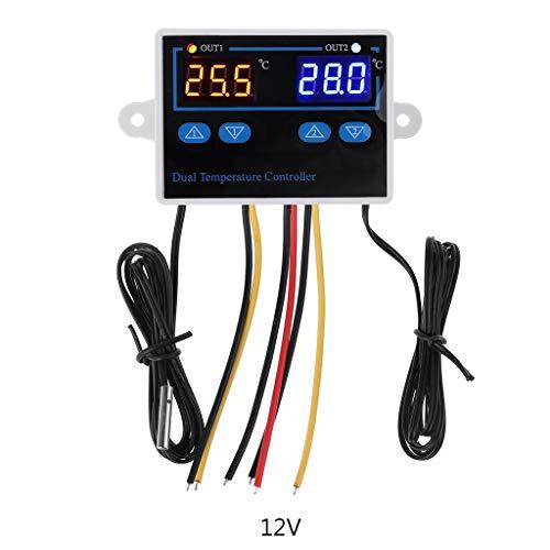 Dubbele thermostaat voor incubator 10A digitale verwarmings- en koeltemperatuurregelaar. Als Bild gezeigt 12 V.