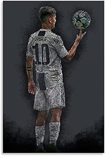 """Diy 5d Kit De Pintura De Diamantes Por NúMero Paulo Dybala F Cuadros Con Diamantes Bordado Punto De Cruz Kits 11.8""""x15.7""""(30x40cm) Sin Marco"""