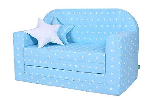 LULANDO Classic Kindersofa Kindercouch Kindersessel Sofa Bettfunktion Kindermöbel zum Schlafen und Spielen, Farbe:...